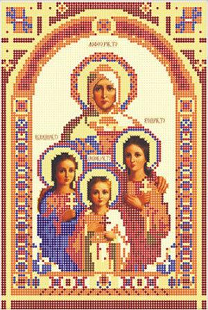 Икона для вышивки бисером надежда вера